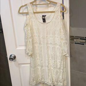 Least white dress cold shoulder